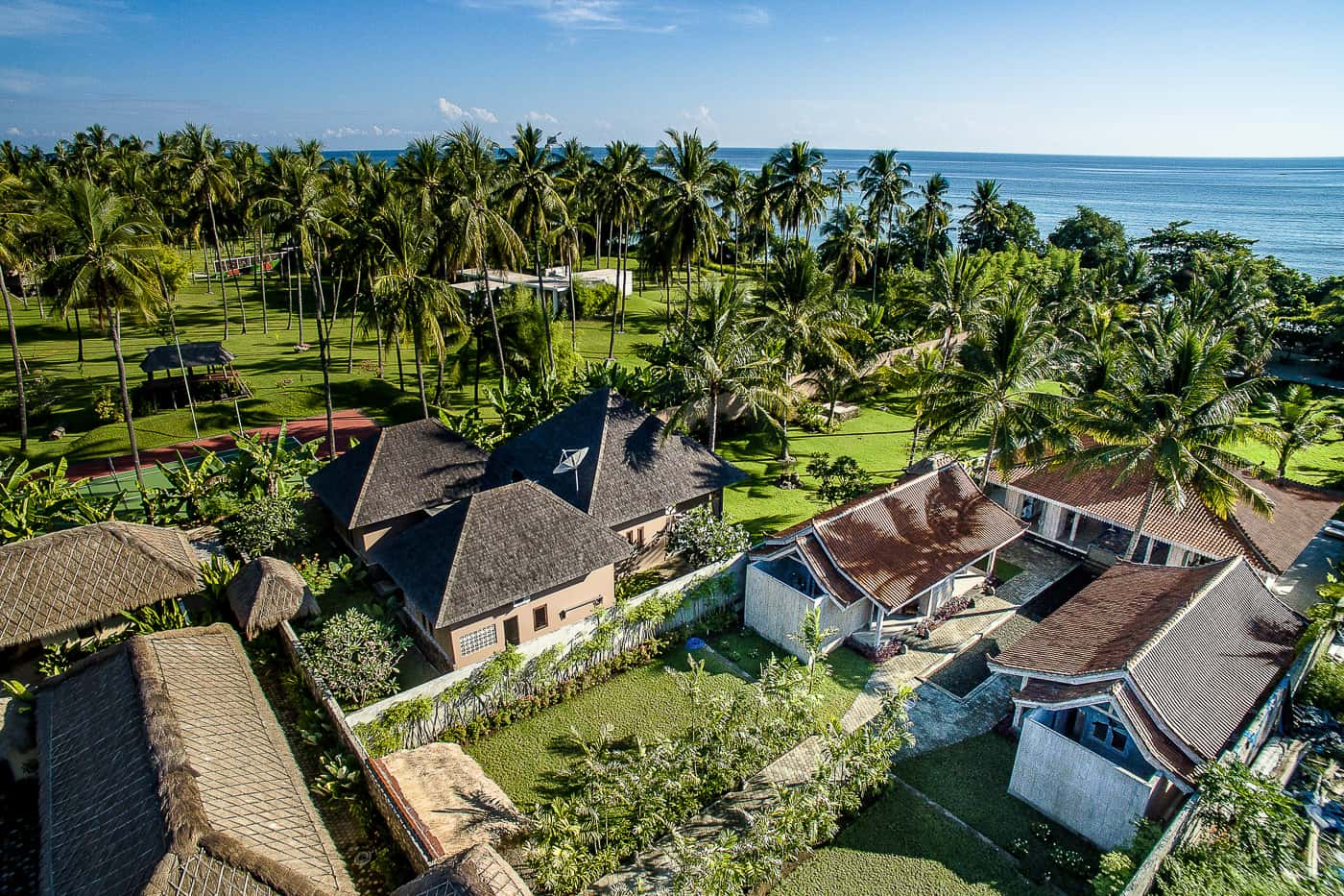 aerial image from The Beach Villa Lombok