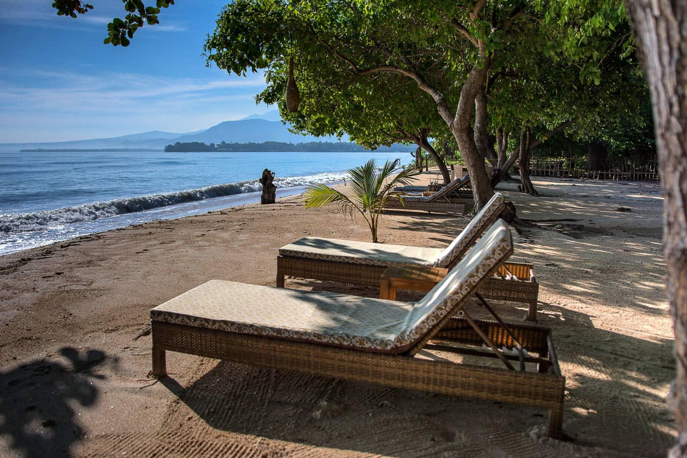 lounging and cocktail area for The Beach Villa Lombok